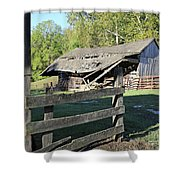 Old Tilted Barn Indiana Shower Curtain
