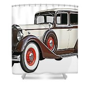 Old Time Auto Shower Curtain