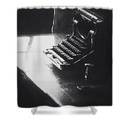 Old Time Communication Shower Curtain
