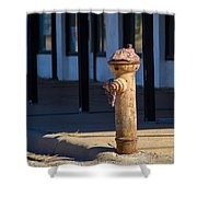 Old Time Hydrant Shower Curtain