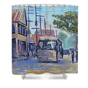 Old Time Kingston  Series Shower Curtain