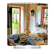 Old Time Kitchen At Old World Wisconsin Shower Curtain