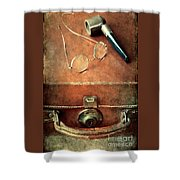 Old Time Travel Shower Curtain