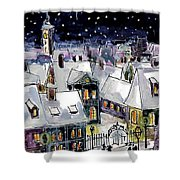 Old Time Winter Shower Curtain