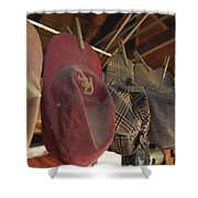 Old Timer's Garage Shower Curtain