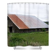 Old Tin Roof Barn Washington State Shower Curtain