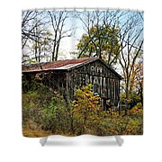 Old Tobacco Barn Shower Curtain
