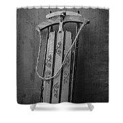 Old Toboggan Sled Shower Curtain