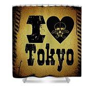 Old Tokyo Shower Curtain
