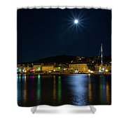 Old Town At Night Shower Curtain
