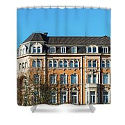 old Town buildings in Aachen, Germany Shower Curtain