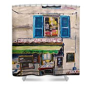 Old Town Cafe Shower Curtain