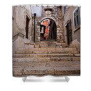Old Town Entrance Shower Curtain