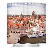 Old Town Gdansk Shower Curtain