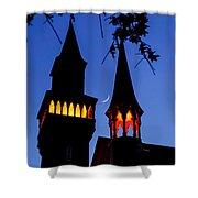 Old Town Hall Crescent Moon Shower Curtain by Sven Kielhorn