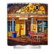Old Town Ice Cream Parlor Shower Curtain