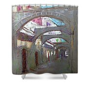 Old Town In Rhodes  Greece Shower Curtain