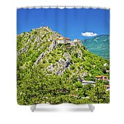 Old Town Knin On The Rock View Shower Curtain