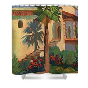 Old Town La Quinta Palm Shower Curtain