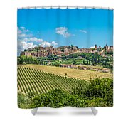 Old Town Of Orvieto, Umbria, Italy Shower Curtain