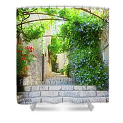 Old Town Of Provence Street Shower Curtain