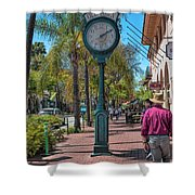 Old Town Santa Barbara Shower Curtain