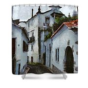 Old Town Street Shower Curtain