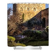 Old Town Walls Toledo Spain Shower Curtain