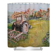 Old Tractor  Shower Curtain