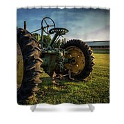 Old Tractor In The Field Outside Of Keene Nh Shower Curtain by Edward Fielding