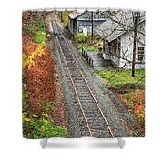 Old Train Station Norwich Vermont Shower Curtain