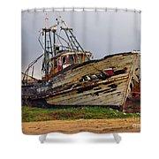Old Trawler Shower Curtain