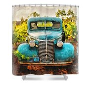Old Truck At The Winery Shower Curtain