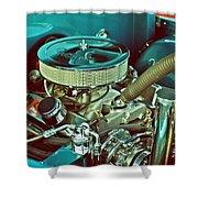 Old Truck Engine Shower Curtain