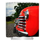Old Truck Grille Shower Curtain