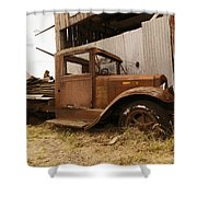 Old Truck In Old Forgotten Places Shower Curtain