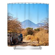 Old Truck In San Pedro De Atacama Shower Curtain