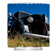 Old Truck Low Perspective Shower Curtain