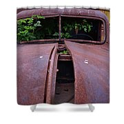 Old Truck New Vines Shower Curtain