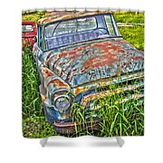 001 - Old Trucks Shower Curtain