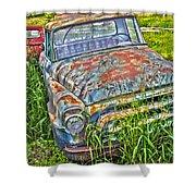 001 - Old Trucks Shower Curtain