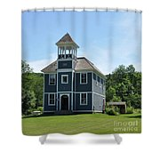Old Two Room School House Shower Curtain