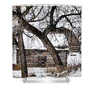 Old Ulm Barn Shower Curtain