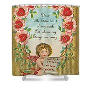Old Valentine Design Four Shower Curtain