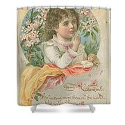 Old Valentine Design One Shower Curtain