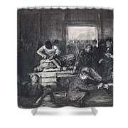 Old Varsity Men Break In And Give Advice, First State By George Bellows  Shower Curtain
