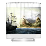 Old Vessel Shower Curtain