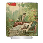 Old Victorian Era Valentine Card Shower Curtain