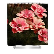 Old Victorian Fuchsia Pink Rose Shower Curtain