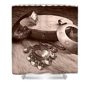Old Viking Designs Shower Curtain